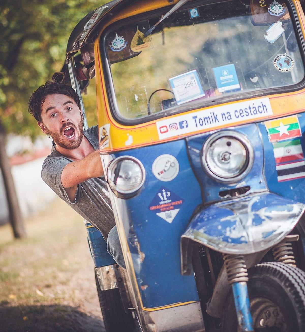 Tuktukem z Thajska až na Moravu s Tomíkem na Cestách /Příbor