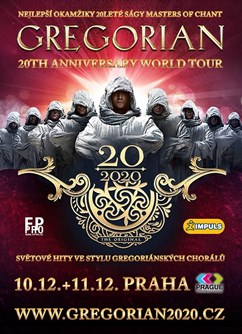 GREGORIAN - 20th Anniversary World Tour (PRAHA - 10.12.2020)