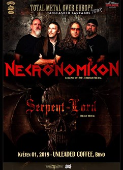 Necronomicon + Serpent Lord a Refore v Unleaded coffee Brno