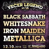16.Večer legend - Sabbati,Whitesnake,Iron Maiden,Metallica